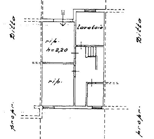 Villetta a schiera in vendita, rif. F/0398 (Planimetria 2/2)