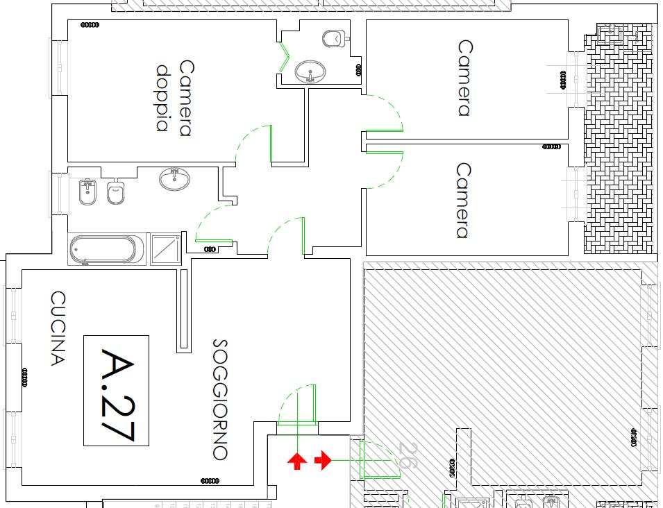 Planimetria 1/1 per rif. F/0399-A27