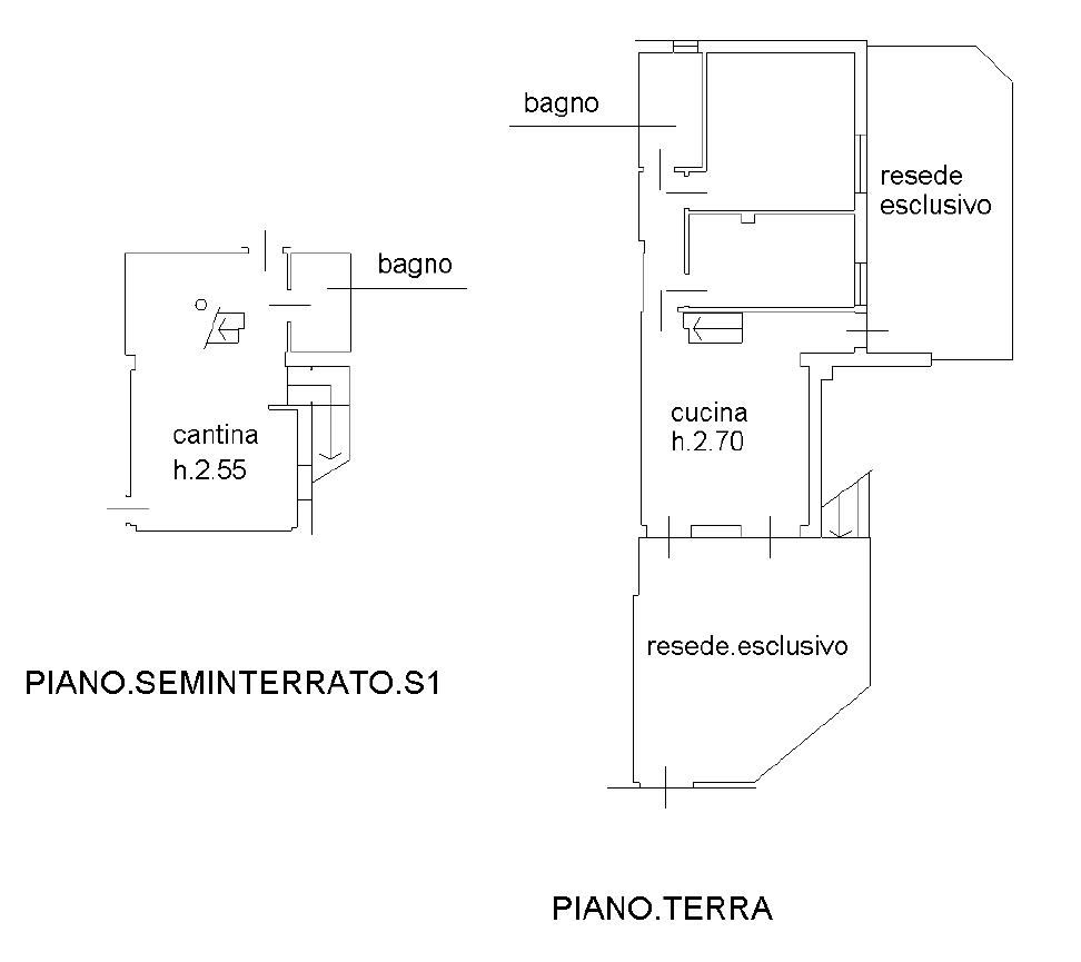 Appartamento in vendita, rif. F/0402 (Planimetria 1/2)