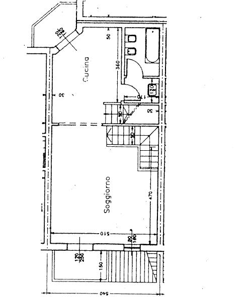Villetta a schiera in vendita, rif. P/0179 (Planimetria 2/4)