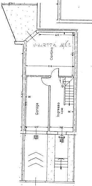 Villetta a schiera in vendita, rif. P/0179 (Planimetria 1/4)