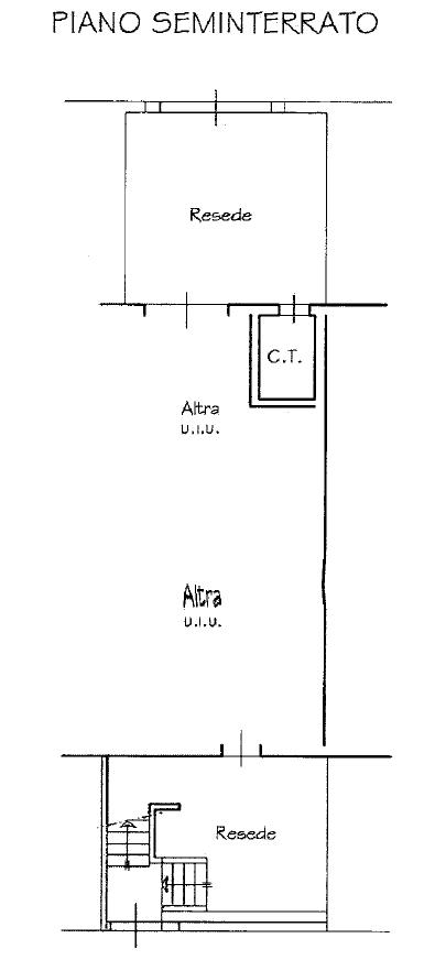Casa semindipendente in vendita, rif. M/0313 (Planimetria 2/3)