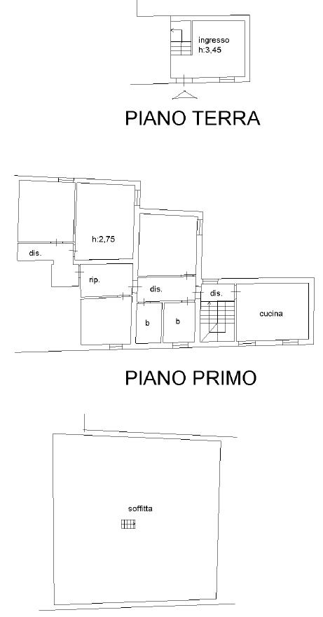 Appartamento in vendita, rif. F/0404 (Planimetria 1/2)
