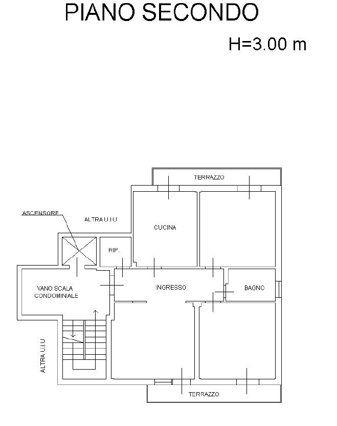 Planimetria 1/2 per rif. M/0314