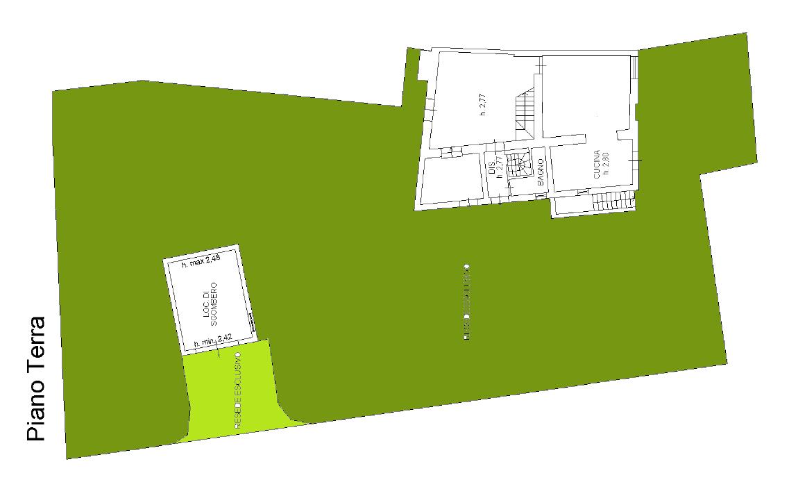 Planimetria 1/4 per rif. F/0409