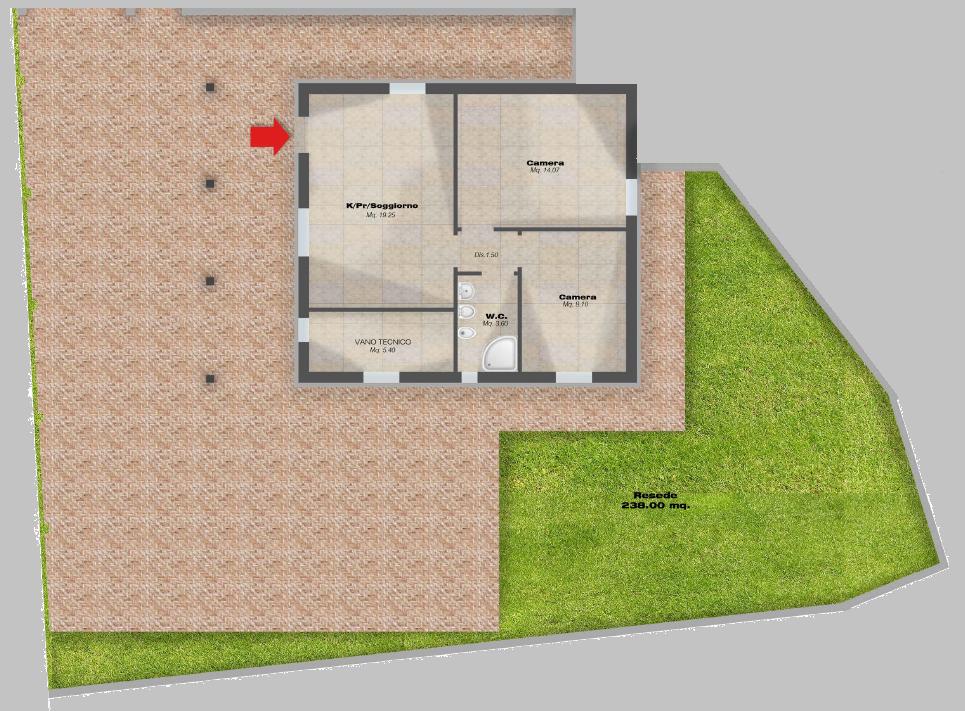 Planimetria 1/5 per rif. F/0410