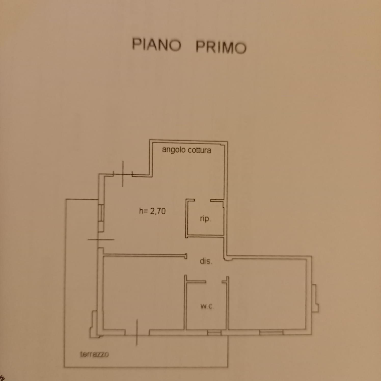 Appartamento in vendita, rif. M/0317 (Planimetria 1/2)