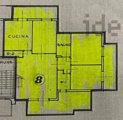 Appartamento in vendita, rif. F/0415 (Planimetria 1/2)