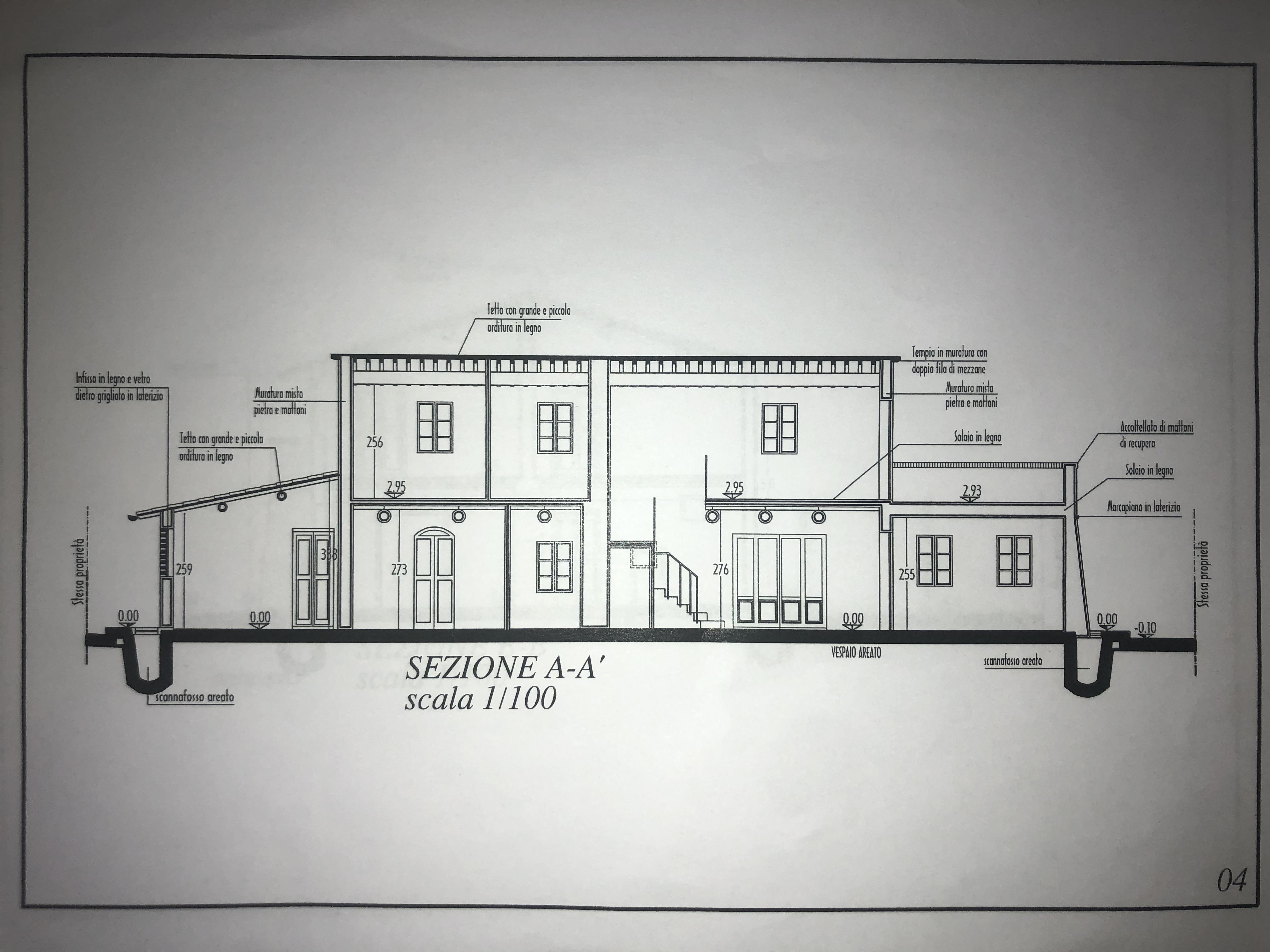 Edificio storico in vendita, rif. F/0416 (Planimetria 9/9)