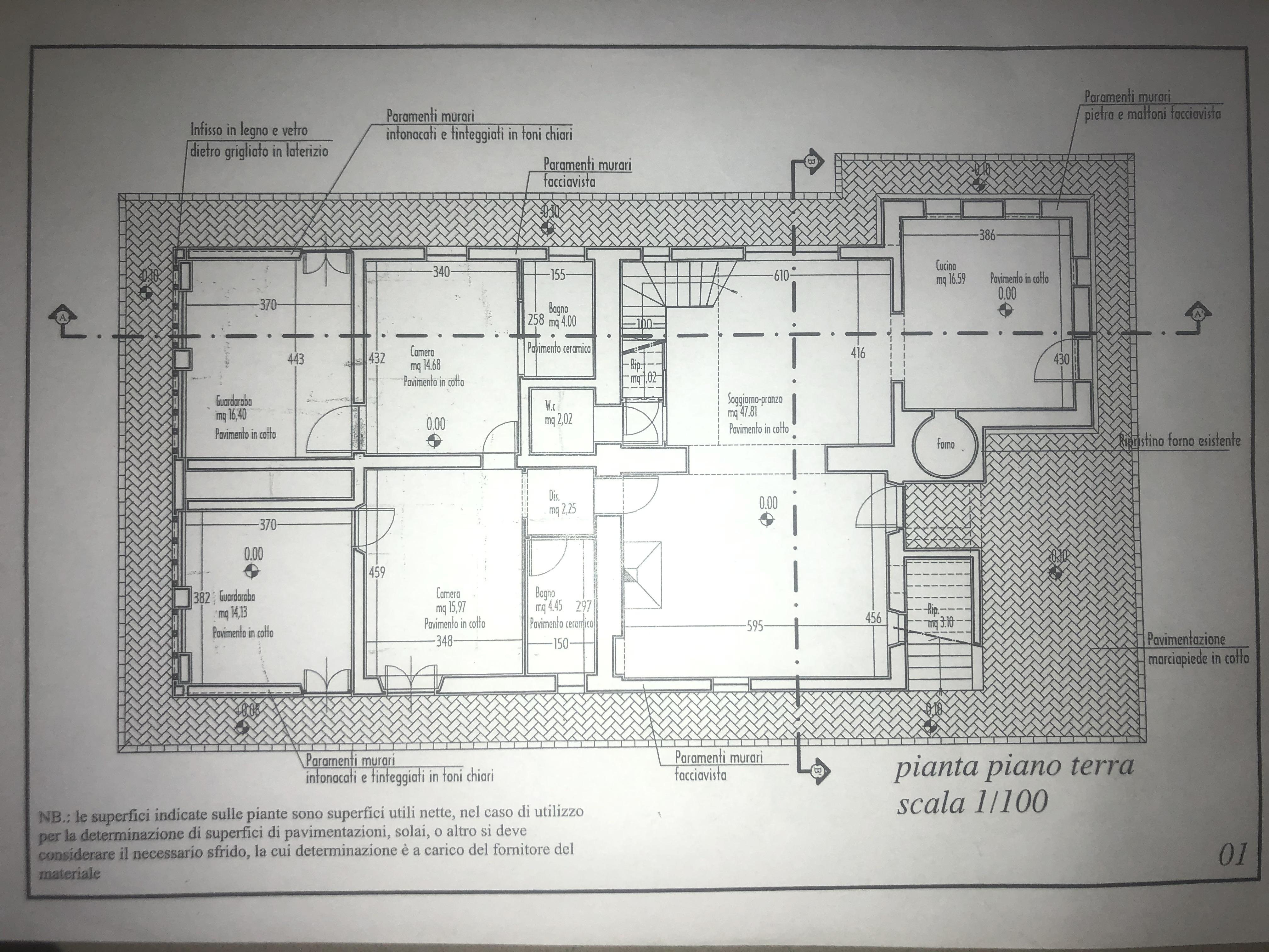 Edificio storico in vendita, rif. F/0416 (Planimetria 1/9)