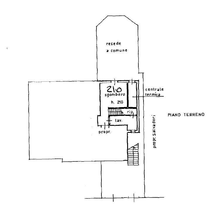 Appartamento in vendita, rif. M/0318 (Planimetria 3/3)