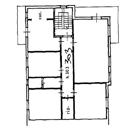 Appartamento in vendita, rif. M/0318 (Planimetria 1/3)