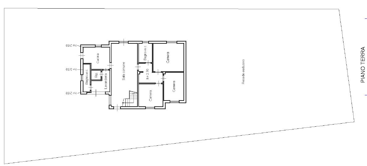 Villa singola in vendita, rif. F/0420 (Planimetria 1/3)
