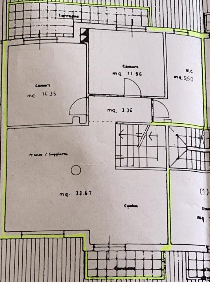Duplex in vendita, rif. M/0319 (Planimetria 1/2)