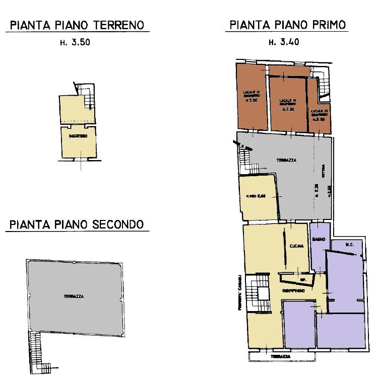 Casa semindipendente in vendita, rif. F/0421 (Planimetria 1/2)
