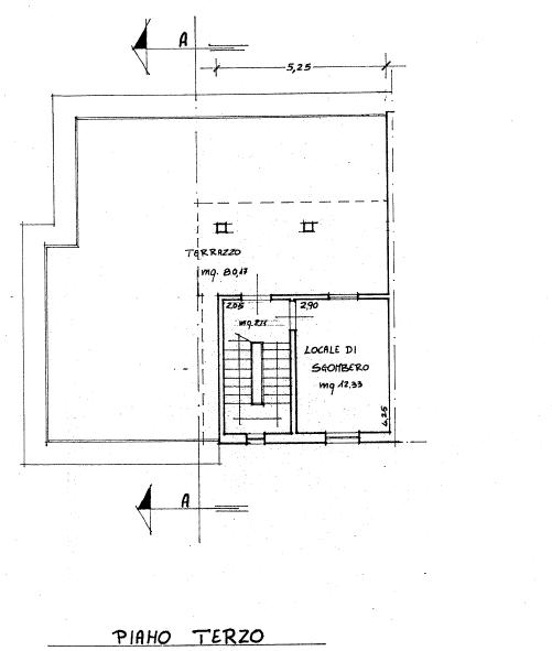 Appartamento in vendita, rif. P/0186 (Planimetria 2/4)