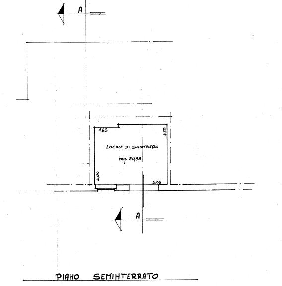 Appartamento in vendita, rif. P/0186 (Planimetria 3/4)