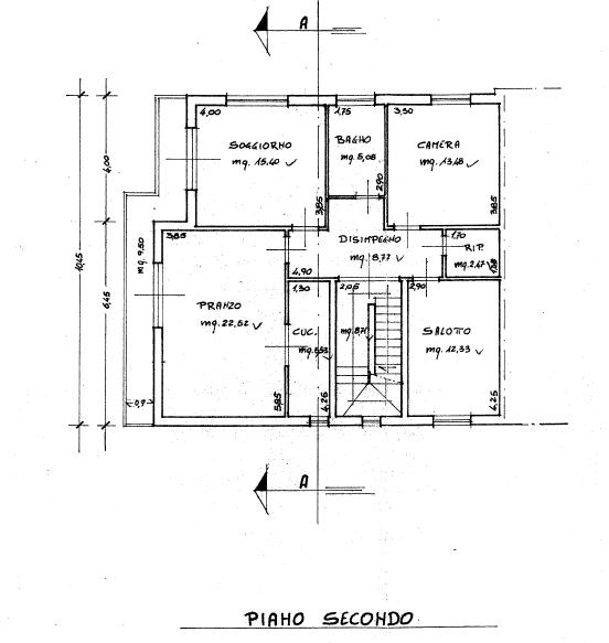 Appartamento in vendita, rif. P/0186 (Planimetria 1/4)