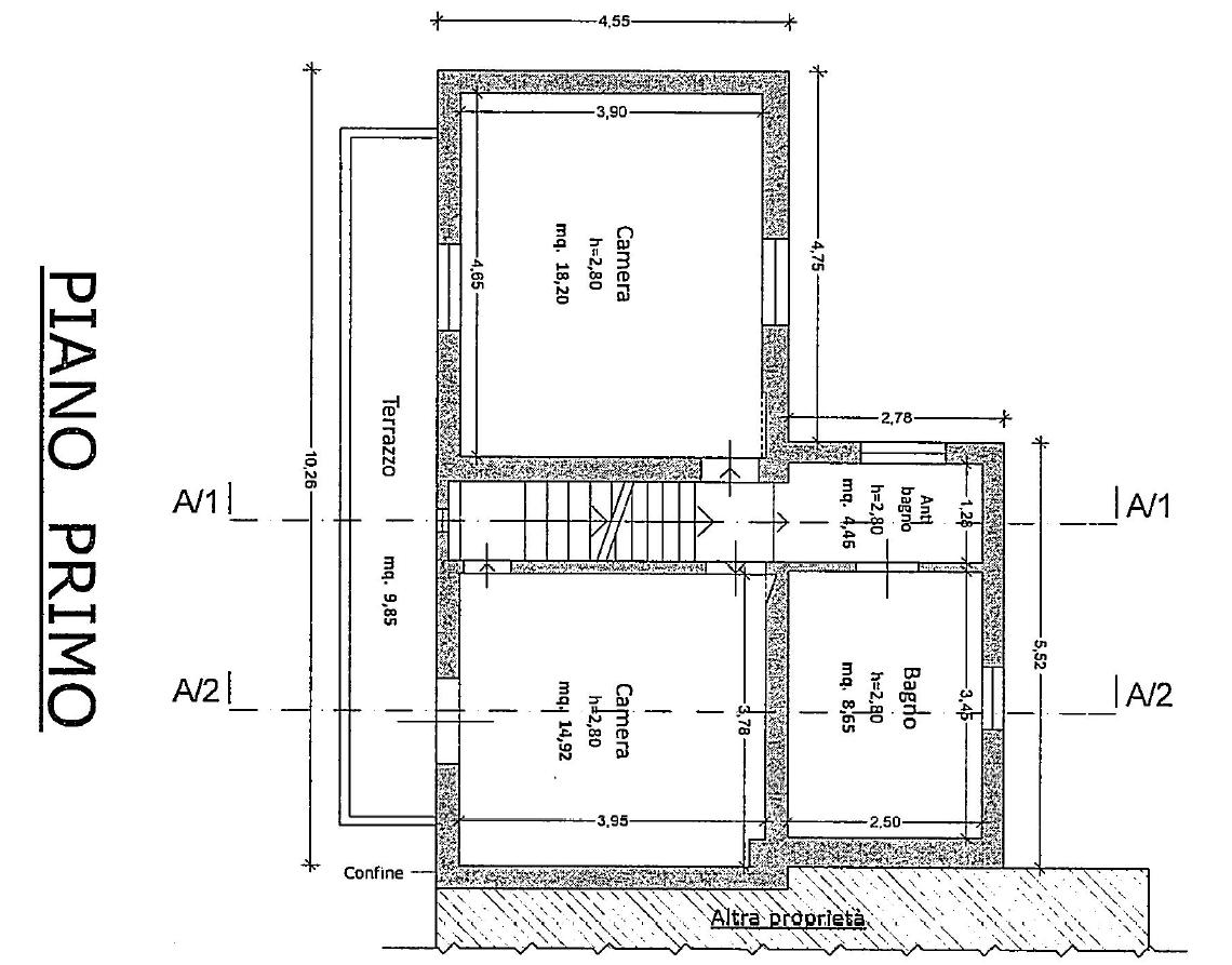 Terratetto in vendita, rif. M/0320 (Planimetria 2/2)