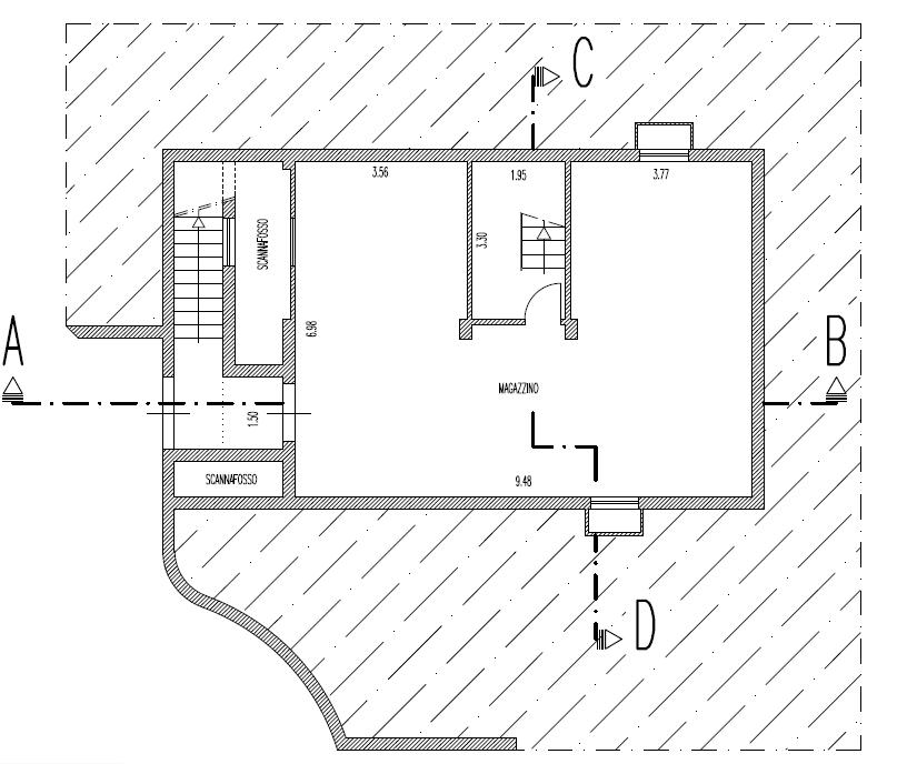 Fienile in vendita, rif. F/0427 (Planimetria 3/10)