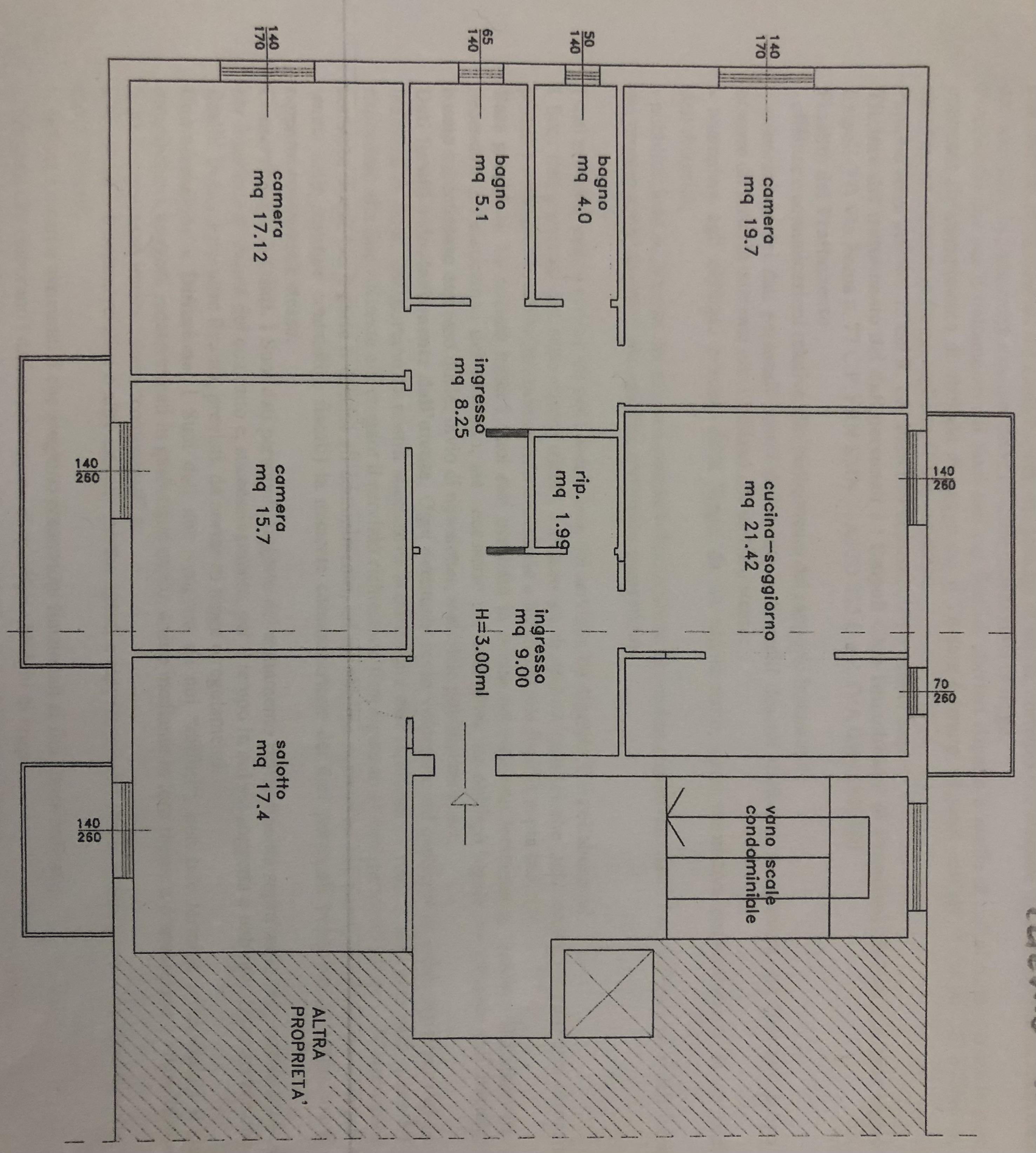 Appartamento in vendita, rif. F/0429 (Planimetria 1/2)