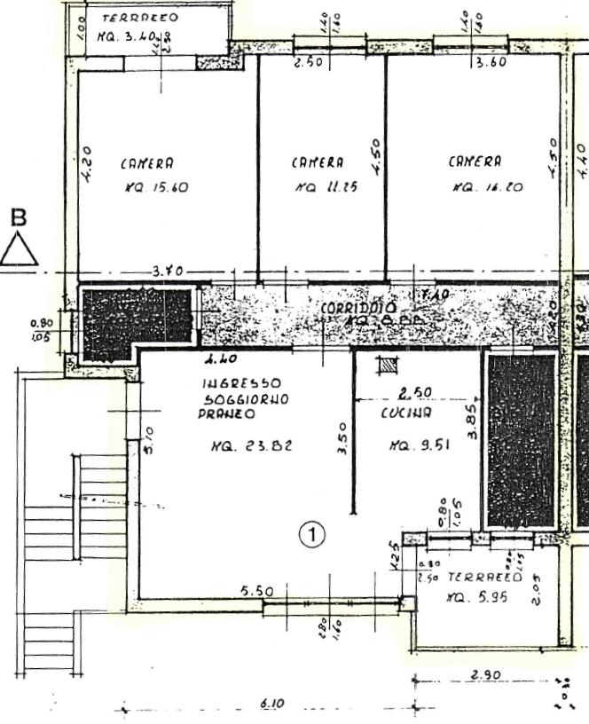 Porzione di casa in vendita, rif. M/0322 (Planimetria 1/2)