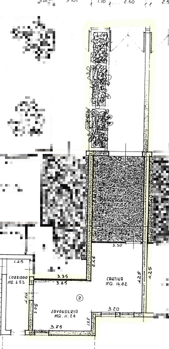 Porzione di casa in vendita, rif. M/0322 (Planimetria 2/2)