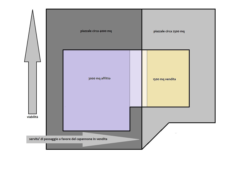 Capannone industriale in affitto commerciale, rif. F/0437 (Planimetria 1/1)