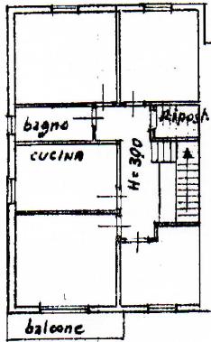 Casa semindipendente in vendita, rif. F/0440 (Planimetria 1/3)