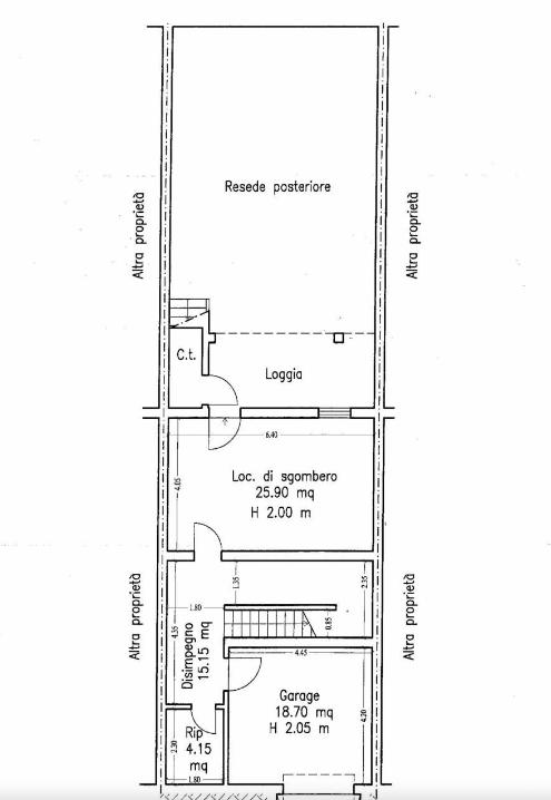 Terratetto in vendita, rif. F/0441 (Planimetria 1/3)