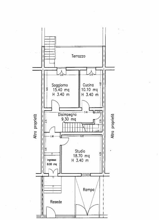 Terratetto in vendita, rif. F/0441 (Planimetria 2/3)