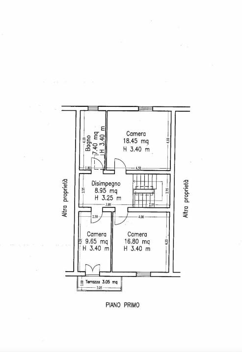 Terratetto in vendita, rif. F/0441 (Planimetria 3/3)