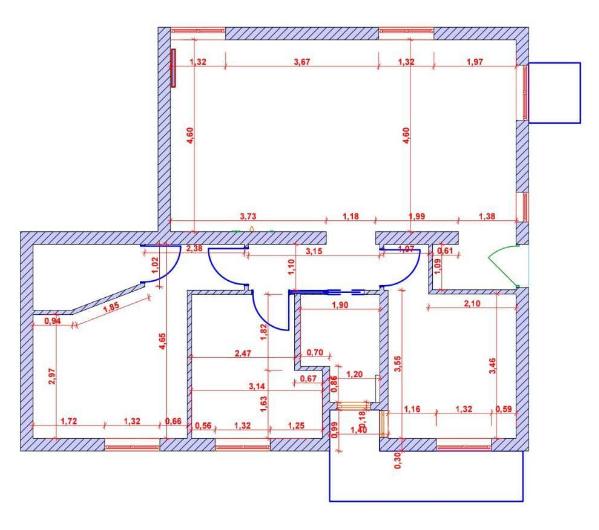 Appartamento in vendita, rif. M/0326 (Planimetria 1/1)