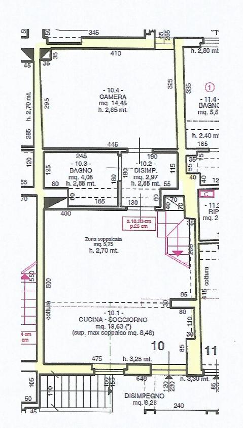 Appartamento in vendita, rif. F/0443 (Planimetria 1/2)