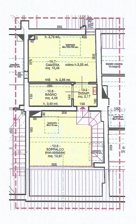 Appartamento in vendita, rif. F/0443 (Planimetria 2/2)