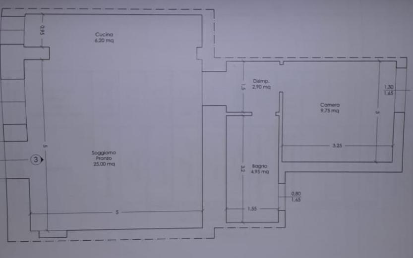 Appartamento in vendita, rif. P/0187 (Planimetria 1/1)