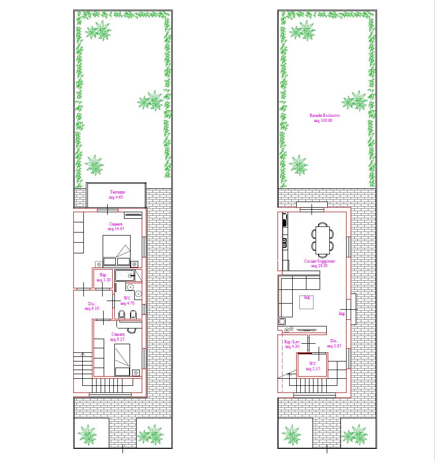 Terratetto in vendita, rif. F/0453 (Planimetria 1/1)