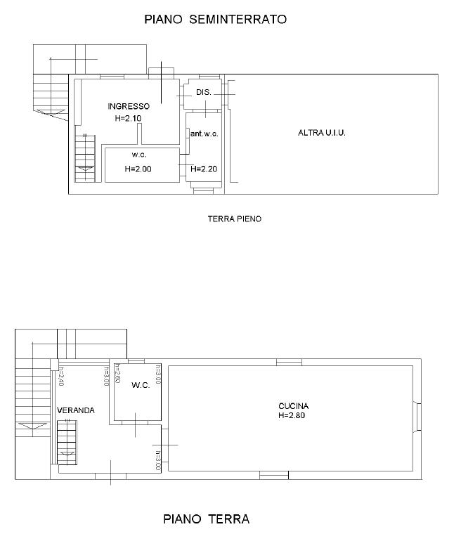 Fienile in vendita, rif. F/0454 (Planimetria 1/4)