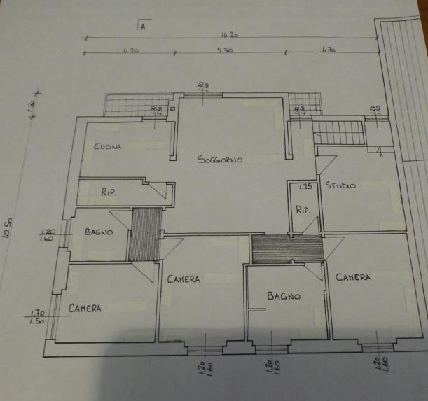 Appartamento in vendita, rif. P/0190 (Planimetria 2/2)