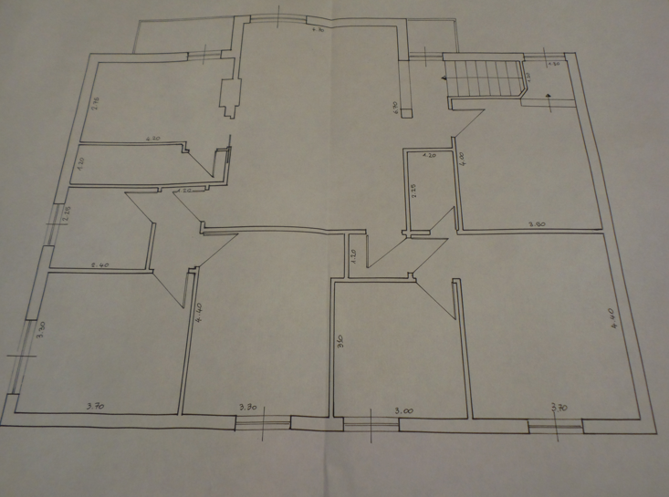 Appartamento in vendita, rif. P/0190 (Planimetria 1/2)