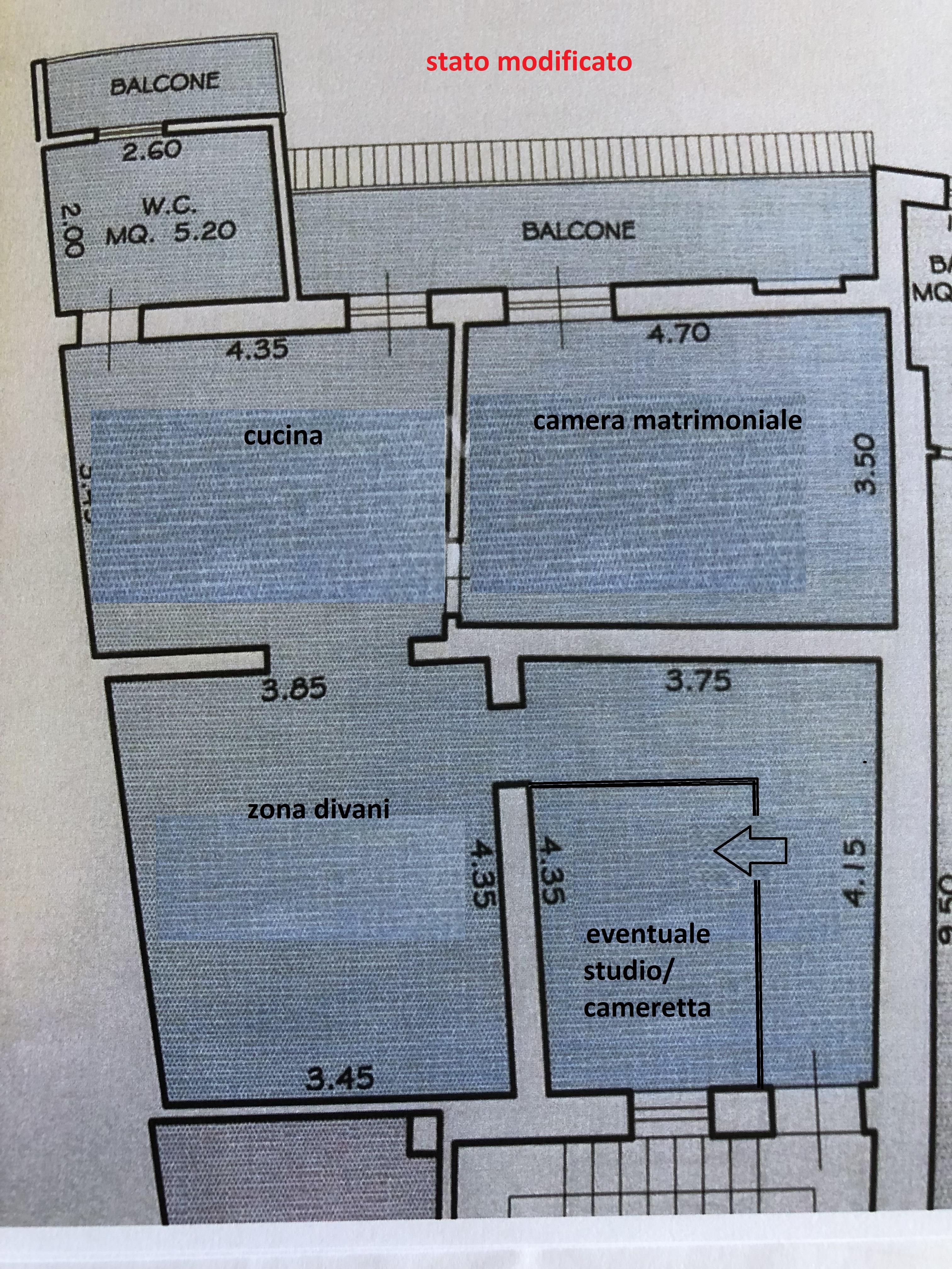 Appartamento in vendita, rif. F/0459 (Planimetria 2/2)