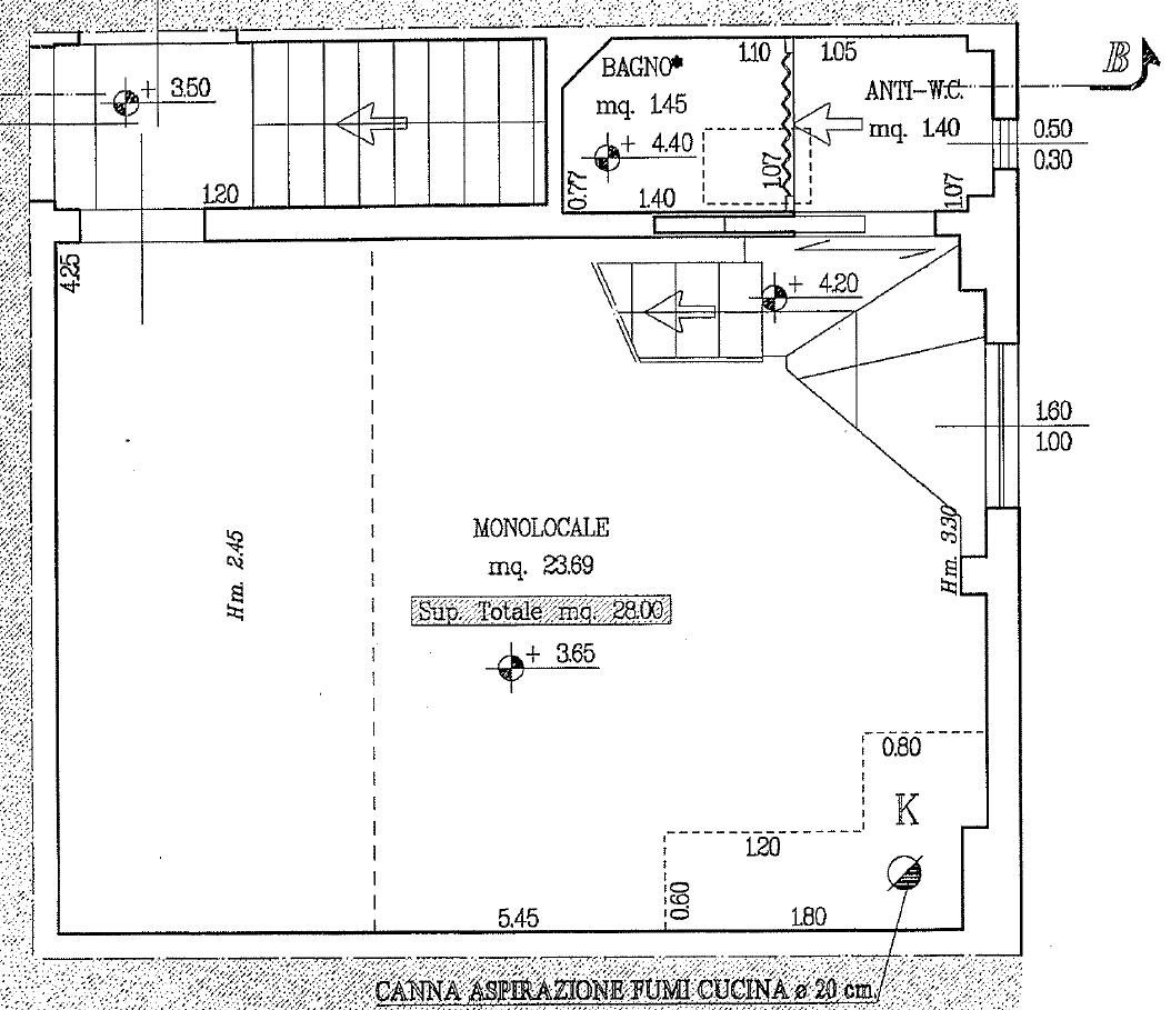 Appartamento in vendita, rif. F/0460 (Planimetria 1/3)