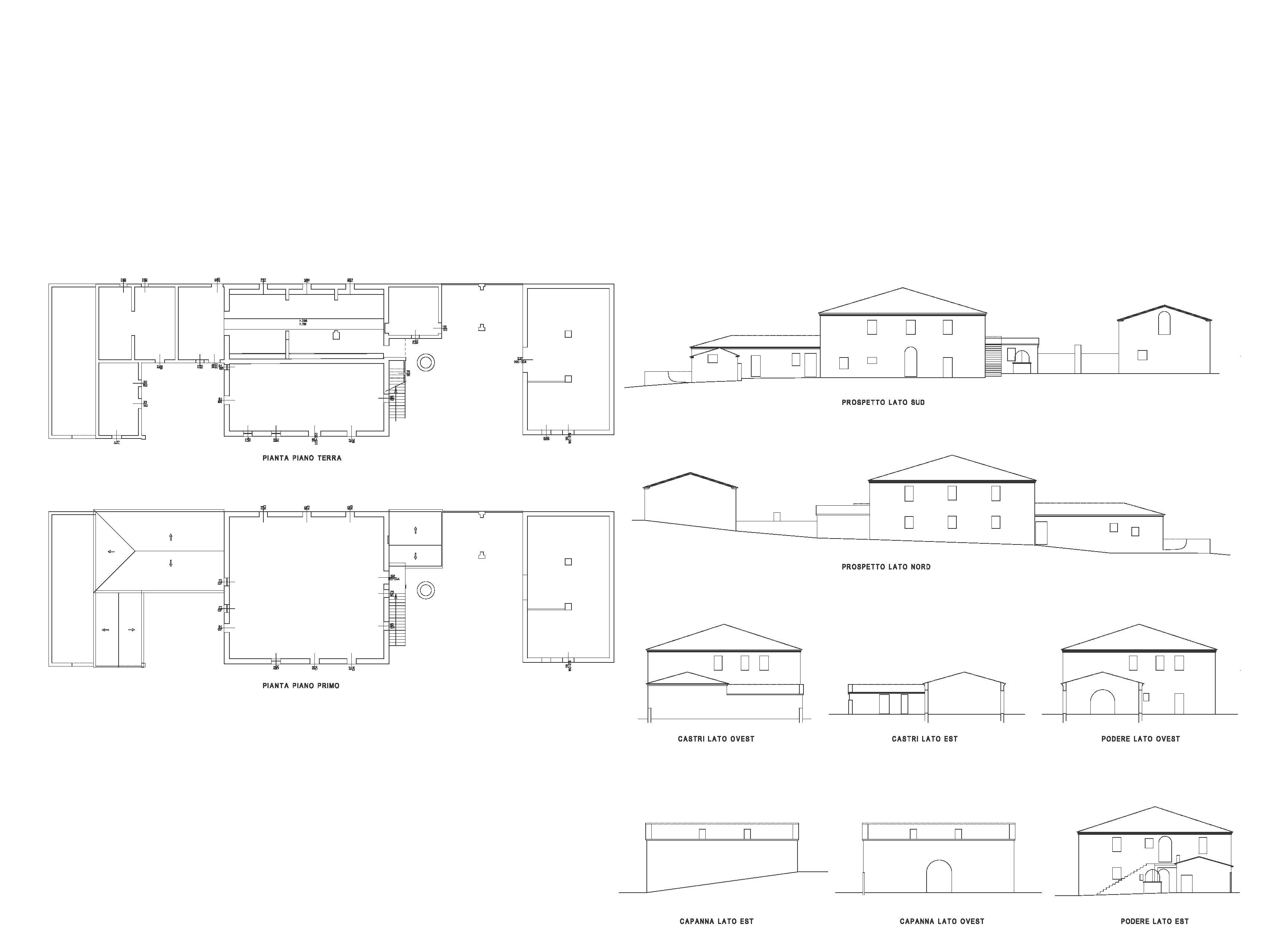Casale in vendita, rif. CA202 (Planimetria 1/1)