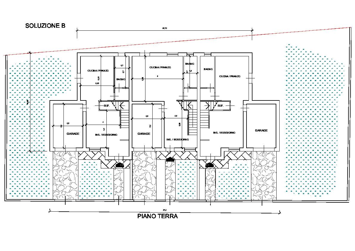 Planimetria 3/4 per rif. TV/88