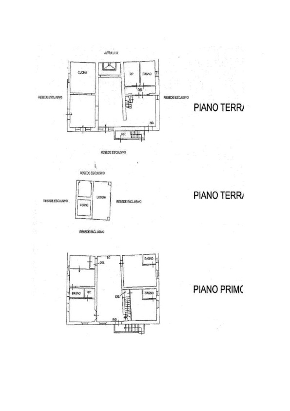 Planimetria 1/1 per rif. AP622