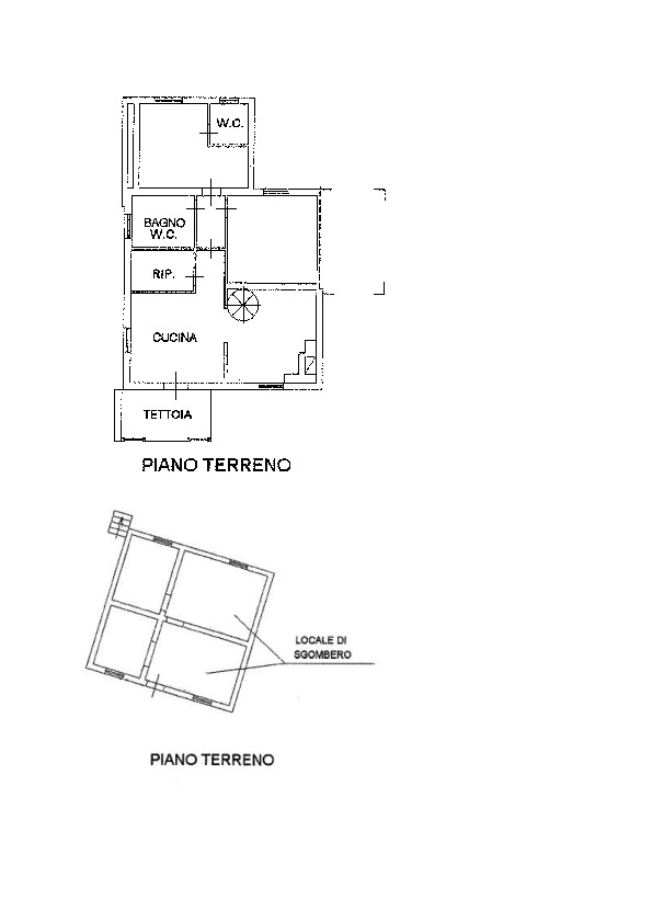 Planimetria 1/2 per rif. AP549