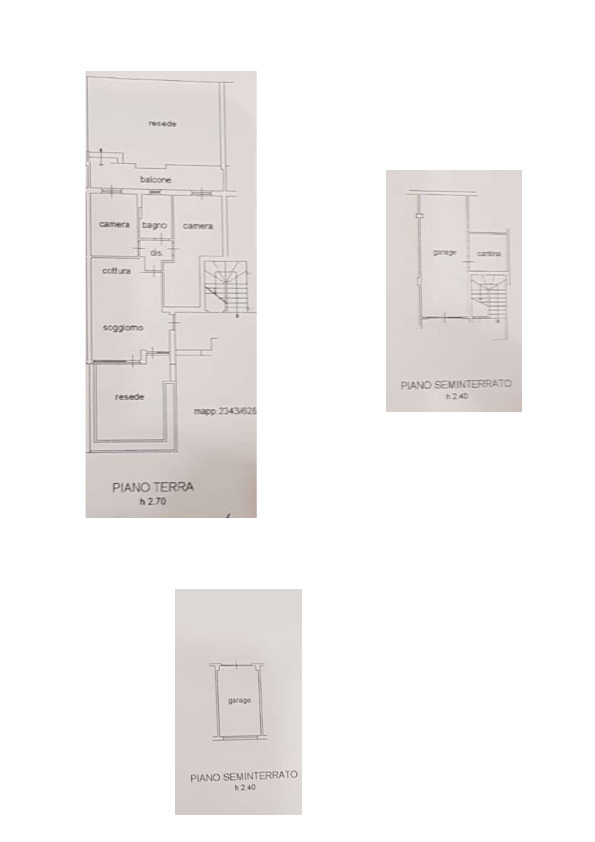 Planimetria 1/1 per rif. AP599