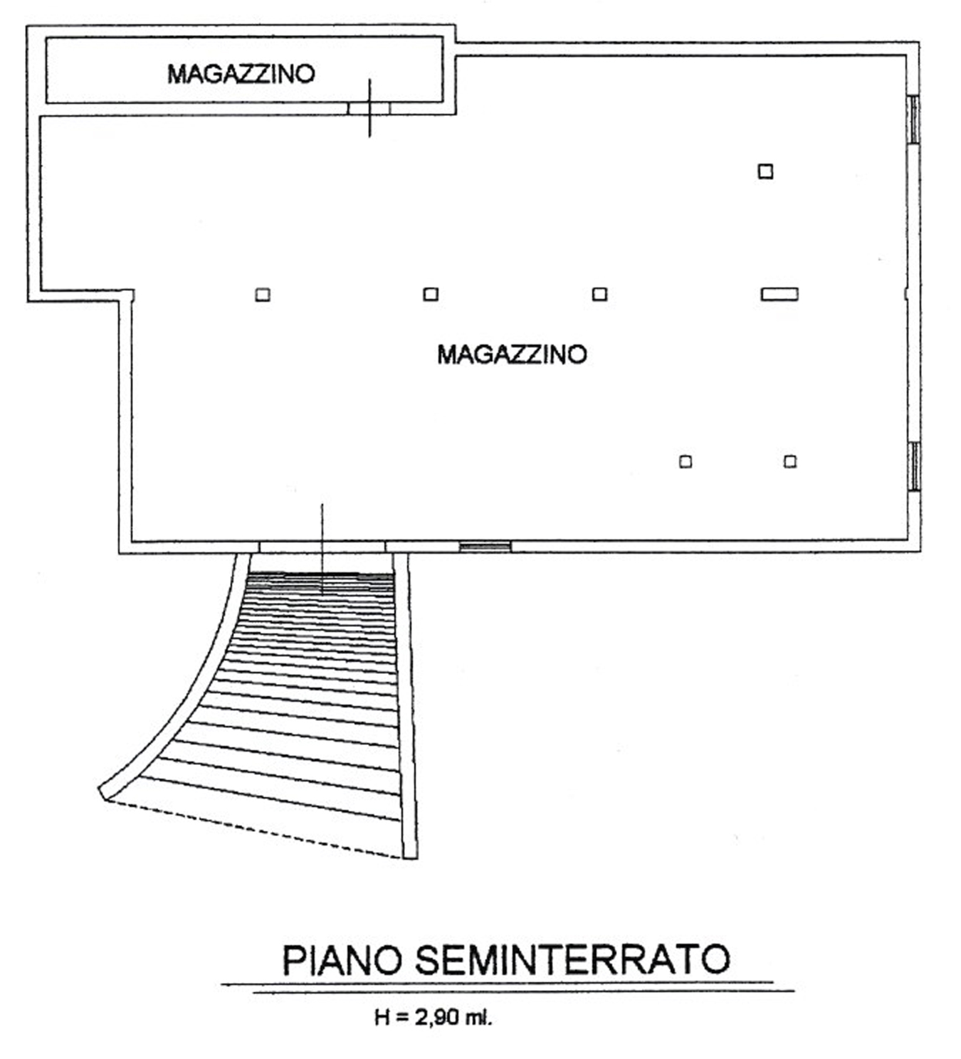 Planimetria 2/5 per rif. V1204