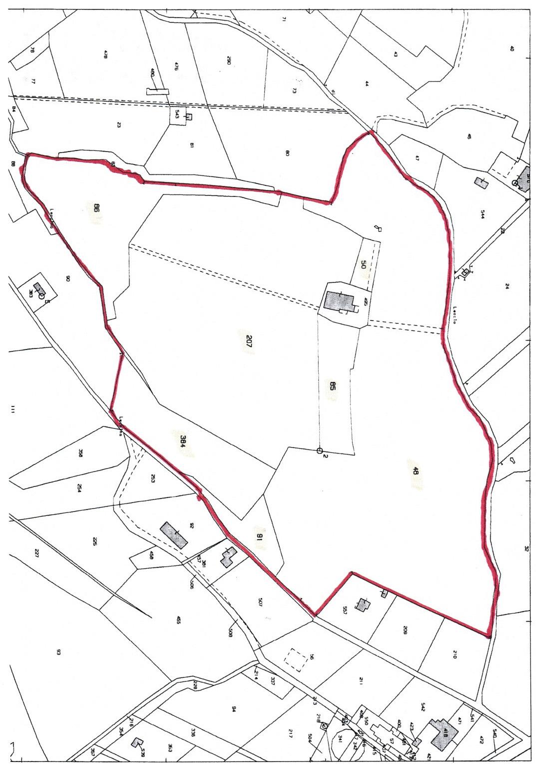 Planimetria 1/5 per rif. V1204