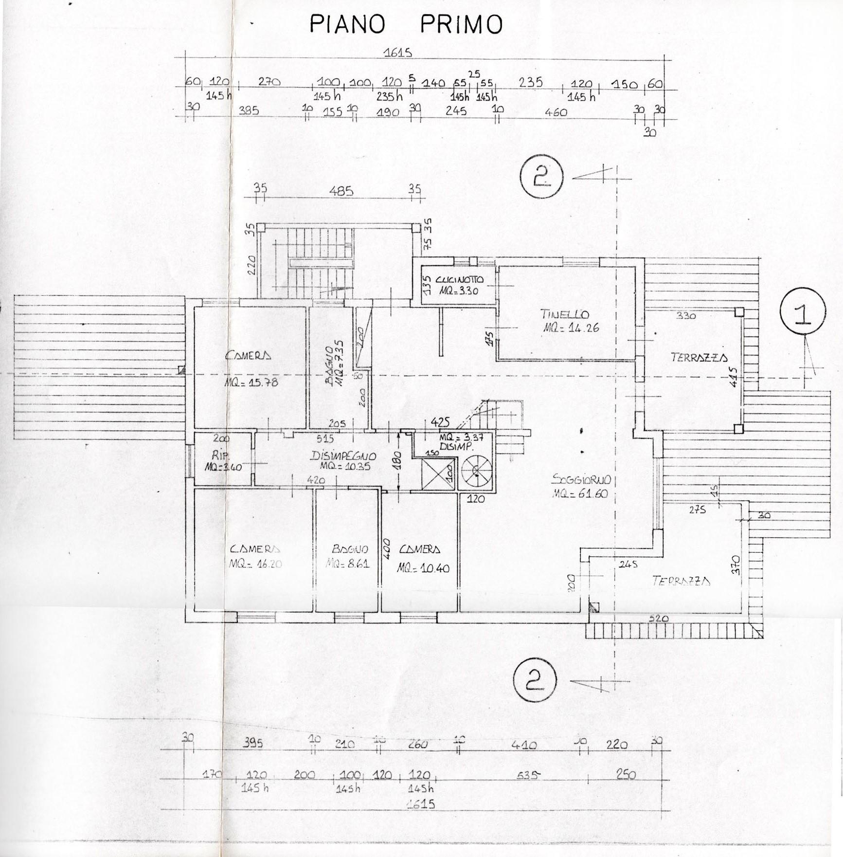 Planimetria 4/5 per rif. V1204
